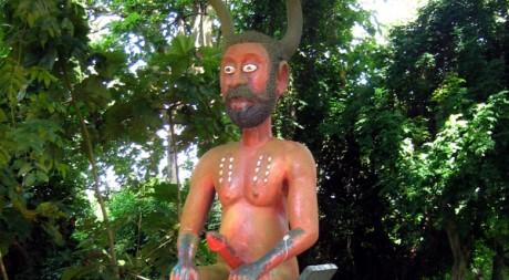 Représentation du Lègba, l'un des dieux du panthéon vaudou.