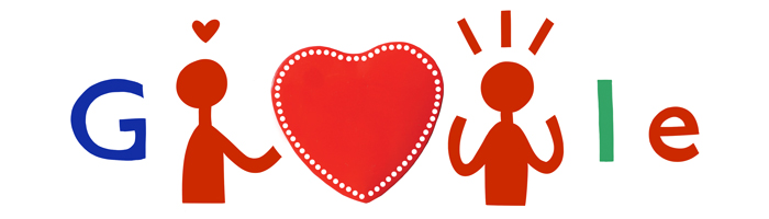 Le Doodle de Google pour la Saint-Valentin