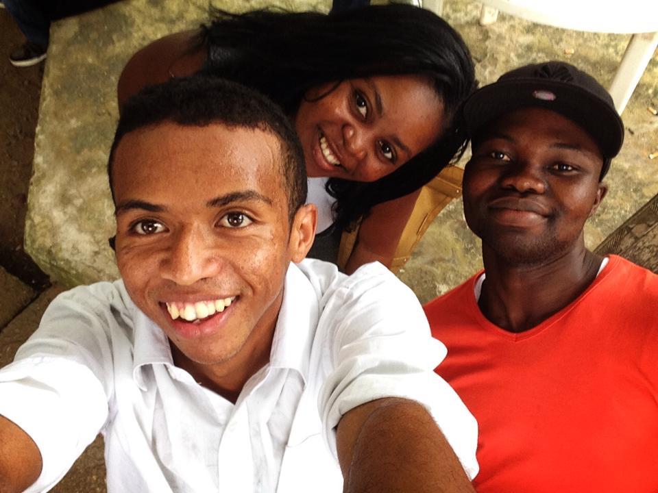 "Selfie ""Guénolé, Danielle et moi"""