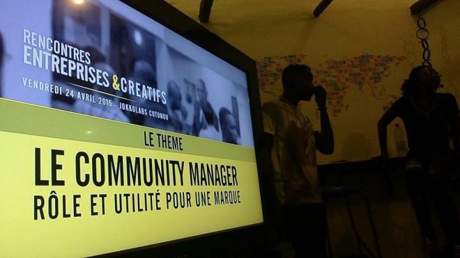 La première édition des soirées s'est penshé sur le métier de community manager, son rôle et son utilité pour une marque. Photo : Ganiath Bello